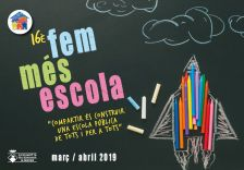 """Imatge promocional del """"Fem Més Escola"""" 2019"""
