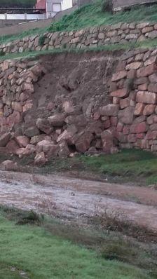 Una imatge del despreniment de pedres