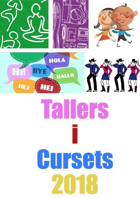 Portada del díptic de Tallers i Cursets